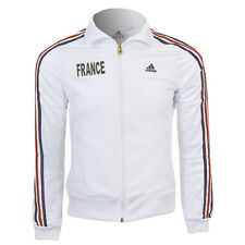 Adidas FRANCE Tracktop Sports Jacket Ladies Size XS-S-M-L-XL White New