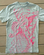 NWT Youth Marvel Comics Spiderman Gray & Neon Pink T Shirt