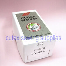 100 Organ 7X4NW DYX3LL Singer 7 Class Leather Point Sewing Machine Needles