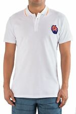 Just Cavalli Authentic Designer Men Polo Shirt T-Shirt Tee White Cotton XL L