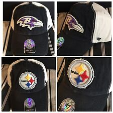 * 47'Brand Pittsburgh Steelers Snapback Cap Ravens Snap Hat Mens Size OSFA