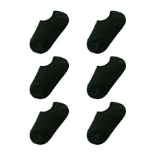 Women Low Cut Silicone Heel Grip No Show Boat Socks 6 Pairs 7-9