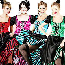 Saloon Girl Fancy Dress Western Womens Can Can Cowgirl Burlesque Ladies Costume