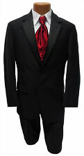 Mens Size 44L Black  Ralph Lauren Newport Jacket & Pants Wedding Tuxedo