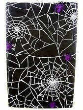 Assorted Sizes Halloween Party Black Spider Web Vinyl Tablecloth FREE SHIPPING