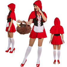 Little Red Riding Hood Costume Ladies Fairy Tale Carnival Dress Fairytale
