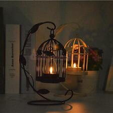 Retro Metal Hanging Birdcage Candle Holder Tealight Candlestick Stand Decor