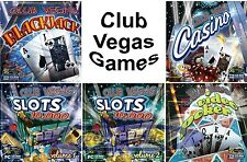 CLUB VEGAS CASINO Games PC Windows XP Vista 7 8 10 NEW Factory Sealed