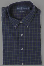 Ralph Lauren Purple Green Button Down Custom Fit Dress Shirt Blue Pony NWT