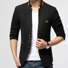 Fashion New Stylish Mens Casual Slim Five Button Suit Blazer Coat Jacket Tops G