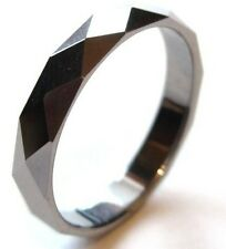 TU3050 High Polish Multi Faceted Tungsten Carbide Ring