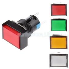12V Momentary 5 Pin 16mm Push Button LED Light Self Locking Square Switch on/off