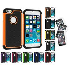 For iPhone 6 (4.7) Hybrid Rugged Hard Hard Case+3X Anti Glare Screen Protector