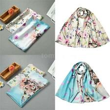 New Womens Pashmina Cape Scarves Long Floral Silk Stole Wrap Shawl Scarf V5V3