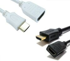 HDMI EXTENSION Cable High Speed With Ethernet Male to Female GOLD Black or White