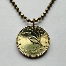 Hungary 5 Forint coin pendant Hungarian necklace Egret Crane bird ave n000396