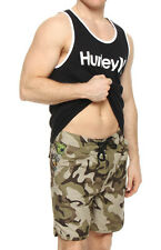 HURLEY Flamo COOL BY THE POOL Surf BOARD WALK Swim SHORT Boy MEN sz XS Long CAMO