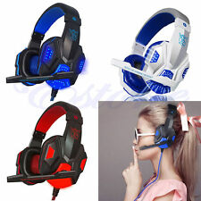 USB 3.5mm Gaming Headset Surround Stereo Headband Headphone With Mic For PC