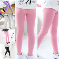 2016 Spring Summer Fashion Girls Kids Age 4-13 Lovely Candy Color Leggings Pants