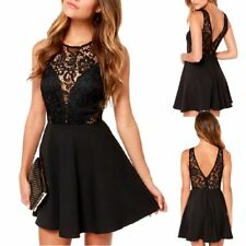 Sexy Women Casual Summer Cocktail Party Evening Backless Lace Short Mini Dress