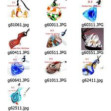 ggggm08 wholesale 10pcs Murano Lampwork Glass  Pendant Necklace Cord Jewelry