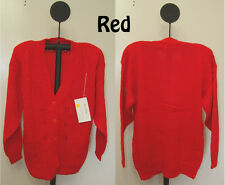4340 Belldini Ladies Red or Black Cardigan Acrylic Sweater - S - M - L - NWT