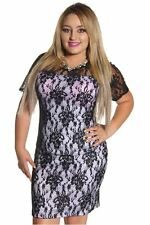 DEALZONE Alluring Lined Floral Lace Dress 1X 2X 3X Women Plus Size Other USA