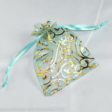 Wholesale NEW 7x9cm Skyblue Organza Jewelry Gift Pouch Bags Wedding Xmas Favor