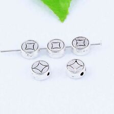 Tibetan Silver Coin Loose Spacer Beads Round Charm Jewelry Accessories Find 8mm