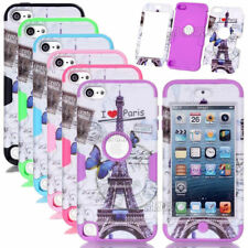 Rugged Eiffel Tower Pattern Shockproof Hybrid Matte Case Skin For iPod Touch 5 6