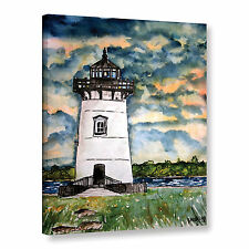 Derek McCrea's 'Edgartown Lighthouse Marthas Vineyard' Gallery Wrapped Canvas