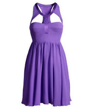 Versace for H&M Purple Corset Babydoll Silk Dress UK 8 14 16 BNWT New with Tags