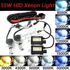 Pair 55W HID BI-Xenon Headlight Conversion KIT BULBS H1 H3 H7 H8 9005 9006 9004