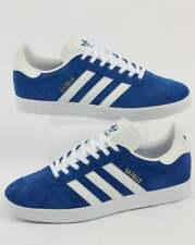 Adidas Originals - Adidas Gazelle Trainers in Royal Blue & White - suede