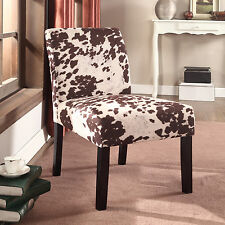 US Pride Furniture Wood Mottled Fabric Accent Chair with Solid Wood Legs (Set of