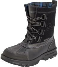 SKECHERS Boy's Liam Lovato Black Winter Boots Shoes - High Ankle Boots