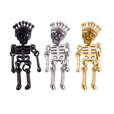 3 Pairs Mini Cool betsey johnson Skeleton Skull Stud Earrings Gift Fashion