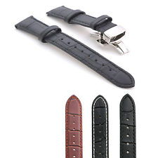 Luxury Genuine Leather Watch Strap Band for Pebble Time Round 20mm 14mm +Tool