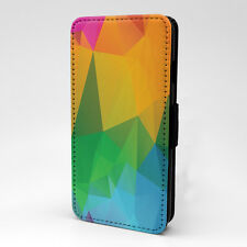 Polygonal Print Design Pattern Flip Case Cover For Sony Xperia - P555