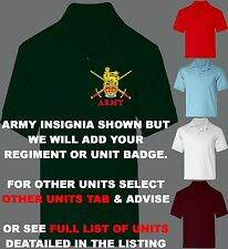 UNIT R-R BUY 3 GET 1 FREE 100% COTTON REGIMENT POLO SHIRT 2XL 3XL SHIRT SIZE 52