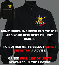 UNIT R-S BLACK MILITARY ARMY RAF ROYAL NAVY MARINES TRAINING JACKET HOODY SHIRT