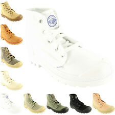 Womens Palladium Pampa Hi Trainer Lace Up Canvas Ankle High Boots New All Sizes
