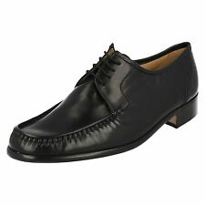 MENS GRENSON BLACK LEATHER LACE UP SHOE (33343) CREWE