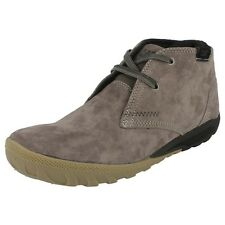 MENS CATERPILLAR GREY SUEDE MID CUT BOOT STYLE - CRUMP MID WIDE FIT