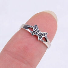 Genuine Amazing Fashion 925 Sterling Silver Butterfly Carved Ring Size 4 H556