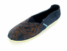 MENS NAVY CANVAS SLIP ON SHOE STYLE - A1073