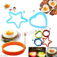 Omelette Shaper Fried Frying Mold Pancake Poach Egg Ring Cooking Mould Silicone