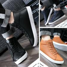 Fashion Men's Casual Leather Lace Loafers High Top Sneakers Ankle Boots Shoes LG