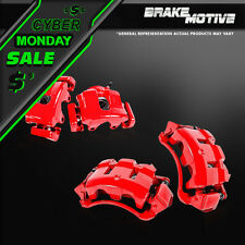 Front + Rear Red Powder Coated Brake Calipers Fits Infiniti G35 G37 G37X