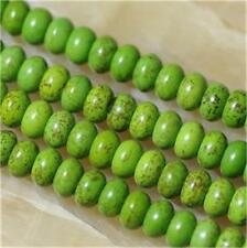 "5X8mm Green Abacus Turquoise Gemstone Loose Beads 15""##AG119"